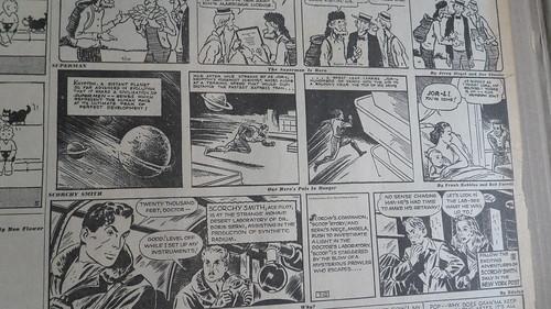 Superman First Issue New York Post Newspaper 1939 Superman Strip