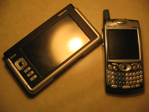 Nokia 770 and Treo 650