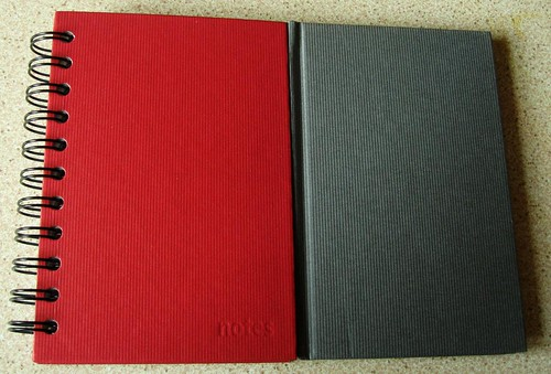 ASDA Notebooks - Red and Grey