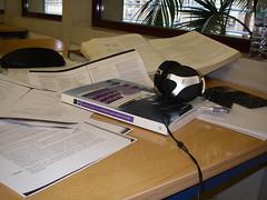 Ambiente de trabalho na FCUL