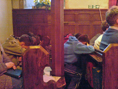 Youth Group Asleep in the Pews