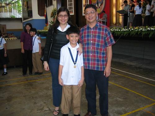 Kyle's Grade 3 Gold Medal
