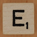 Crossword dice letter E