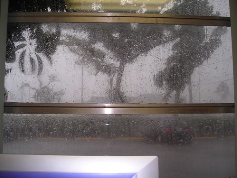 office window hail