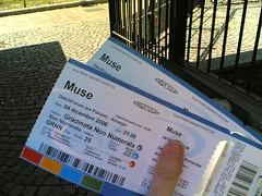 I biglietti dei Muse