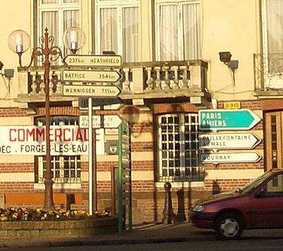 Heathfield sign in Forges-les-Eaux