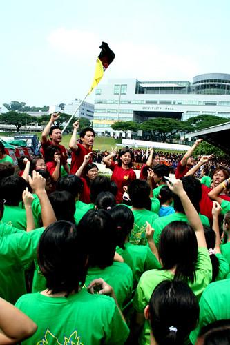 Raffles Supporters Cheering 1