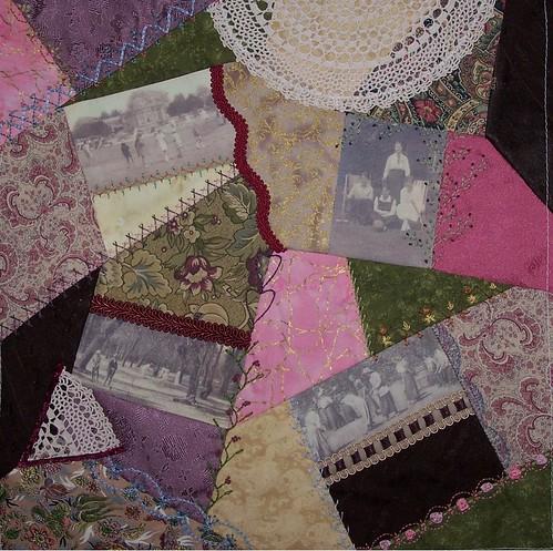 Croquet Cushion - seam embellishments