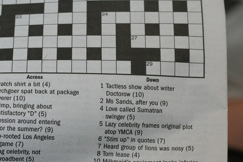 Doctorow as a crossword clue
