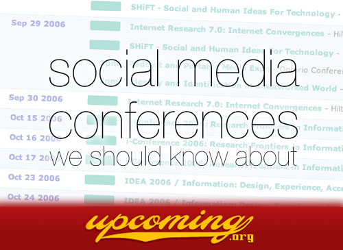 Social media conferences we should know about