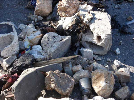 Unexploded M42 and M46 submunitions in Kfar Roummane and Tabine 15 Aug 2006