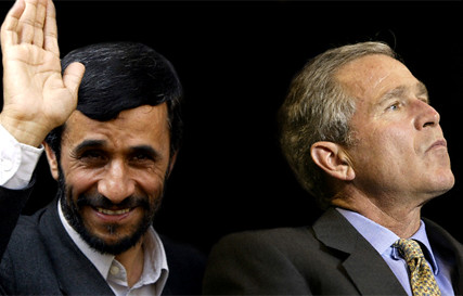 Ahmadinejad and Bush Jr