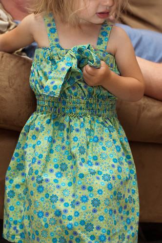 Lillian in her sun dress