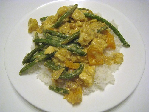 Thai Red Curry with Halibut