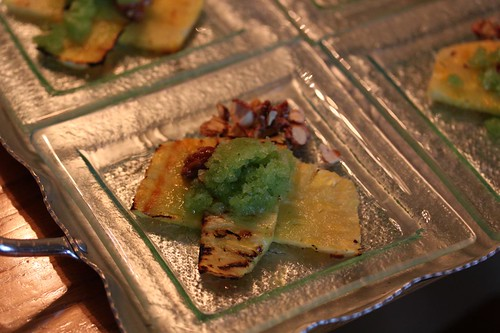 Cucumber + Mint Granitee on Grilled Pineapple