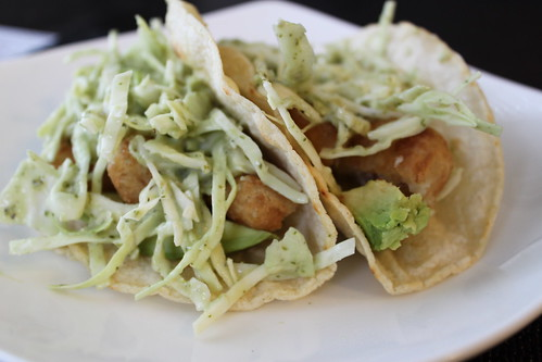 Fish Taco with Cilantro Dressing