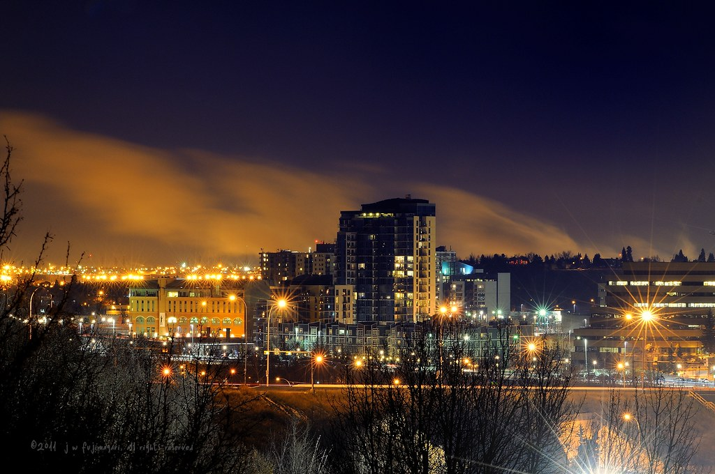 Calgary Centre-East At Night
