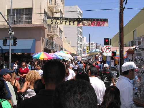 Santee Alley crowd
