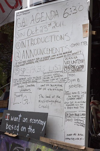 Agenda for OccupyToronto Day 10