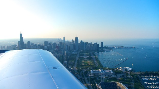 Chicago's lakefront from above