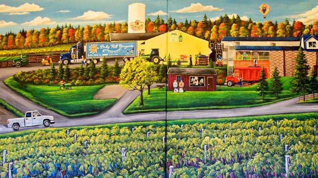 Mural at Bully Hill Vineyards