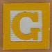 Fridge Magnet Letter G