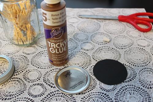 Canning Jar Match Holder