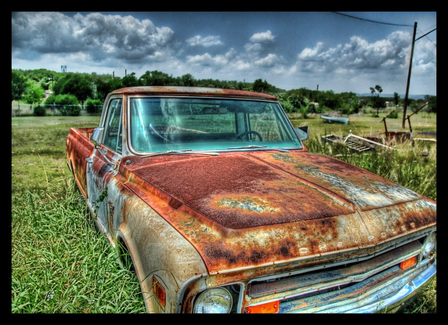 An Old Hot Texas Truck on a Summer's Day
