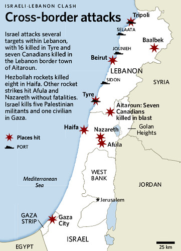 Cross-Border Attacks - Lebanon