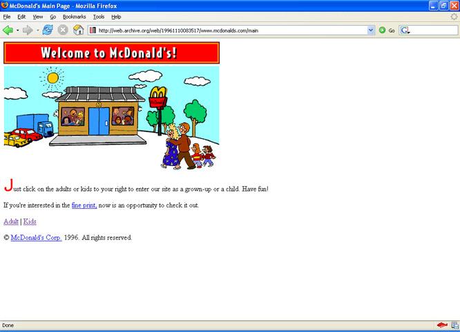 McDonalds.com en 1996