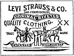 Levi's famous two horses trademark