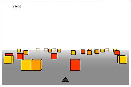 Cubefield game screenshot