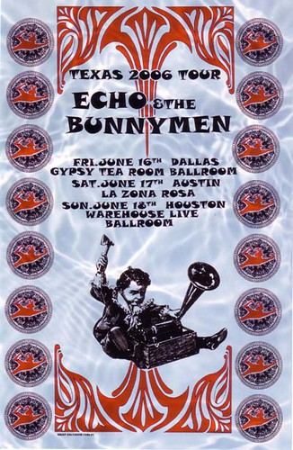Echo and the Bunnymen 2006 Texas tour poster