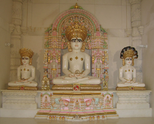 Inner chamber at Jain Temple (Potters Bar)
