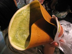 green tea macha crepe