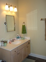 master bathroom: gnome's vanity
