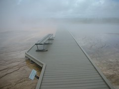Endless Walkway at Grand Prismatic Spring in Yellowstone