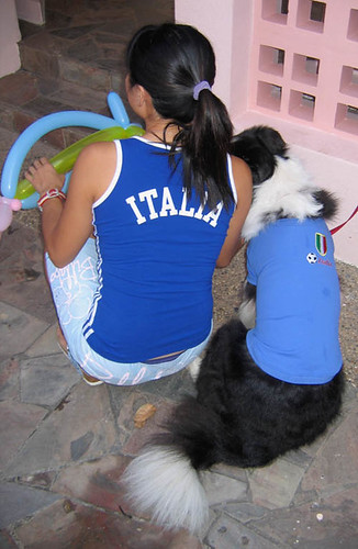We are supporting italia for the 2006 woorld cup!