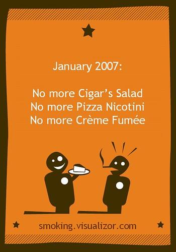 Jan 2007: No more smoking in restaurants
