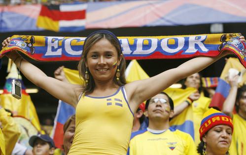 Una seguidora ecuatoriana en el Mundial 2006