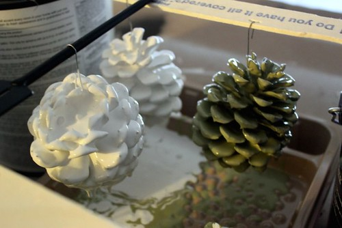 Paint Dipped Pinecone