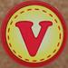 Rubber Stamp Letter V
