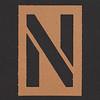 Stencil Letter  N
