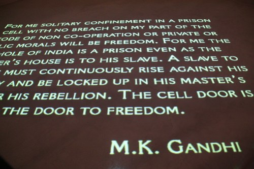 A poster of a Gandhi letter