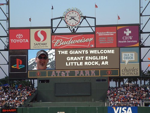 Grant welcomed at AT&T Park