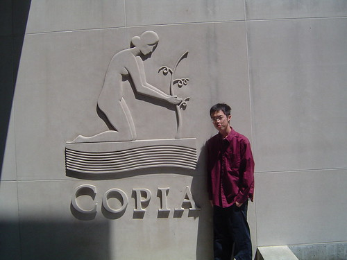 Me in front of Copia Wine Center