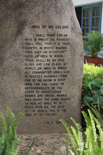 Gandhi's pledge to India