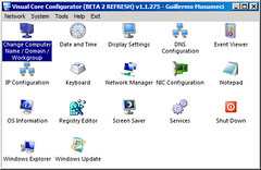 Main menu of Visual Core Configure 2008