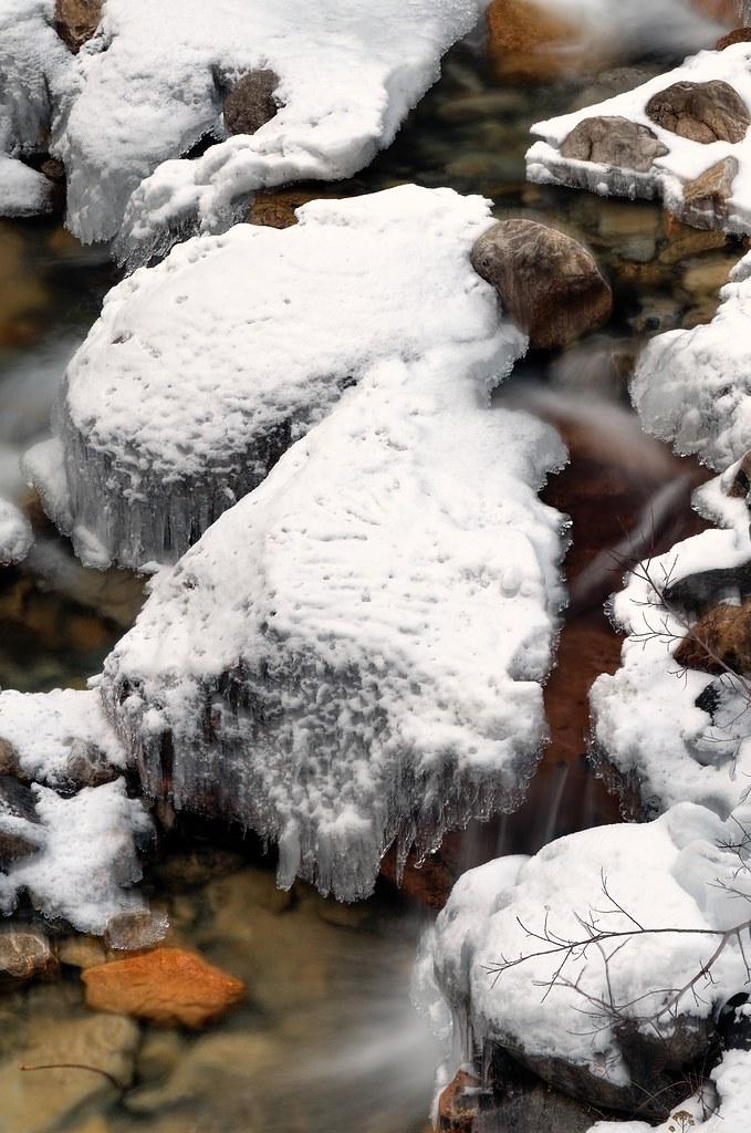 Rocks Water Ice Snow