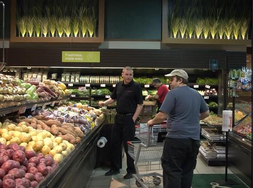 Brad & Matt Selecting Produce